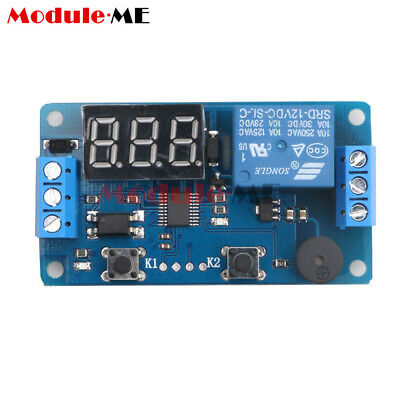 12V LED Display Timer Relay Programmable Module Delay Switch Car Buzzer Board MO
