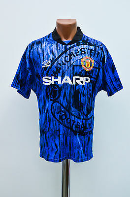 Size M Manchester United England 1992/1993 Away Football Shirt Jersey Umbro