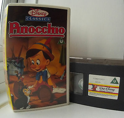 Pinocchio (1940) Disney's 2nd Animated Classics D239 Disney UK VHS Video
