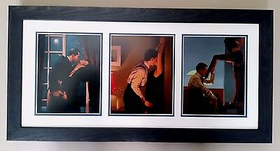 3 Quality Jack Vettriano Prints 'hot', Double Mounted, Framed And Ready To Hang