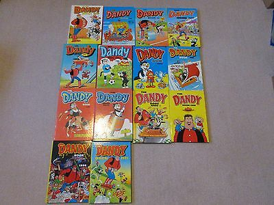 DANDY BOOKS/ANNUALS-  1980-1996 -£3.25 EACH/BEANO- only 5 left