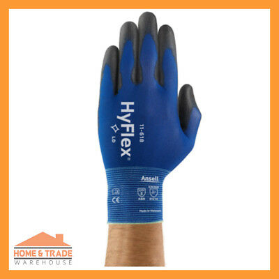 Work Gloves 12 Pairs HyFlex 11-618 Ansell Glove Ultra Lite Precision Assembly