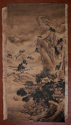 Vintage Rare Old Paper Chinese Landscape Hand Painting Collection Marked PP891