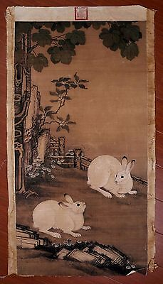 Exquisite Rare Old Paper Chinese Landscape Hand Painting Collection Marks PP886