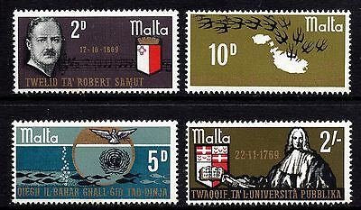 Malta 1969 Anniversaries Complete Set SG 418 - 421 Unmounted Mint