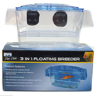 3 In 1 Aquarium Fish Tank Breeder Floating Isolation Tank Fry Pregnant Fish