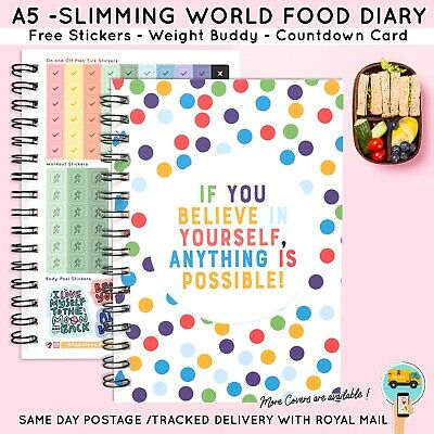 Food Diary Diet Journal Slimming World Compatible Weight Loss Tracker Book 2