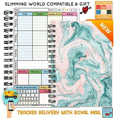 Food Diary Diet Journal Slimming World Compatible Weight Loss Tracker Book 22