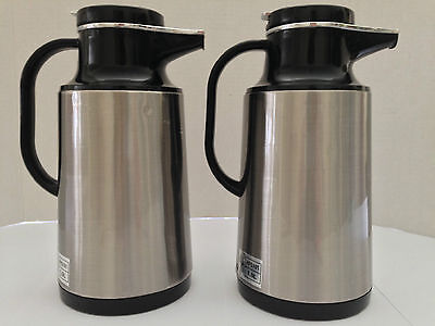 Service Ideas 1 Liter Glass Lined Vacuum Insulated Carafe Hps 101 Set Of 2
