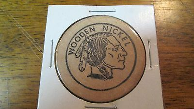 Indian Head Wooden Nickel, Blank Back