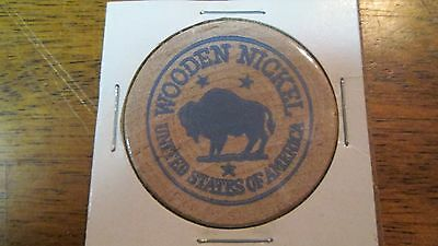 Intercourse, PA. Buffalo Wooden Nickel Token - Bratton's Woodcraft, USA