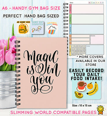 Food Diary Diet Journal Slimming World Compatible Weight Loss Tracker Book 16