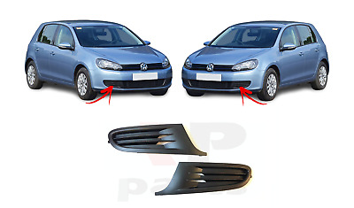 New Volkswagen Golf Vi 6 Mk6 09-12 Front Bumper Lower Grill Trim Fog Cover Pair