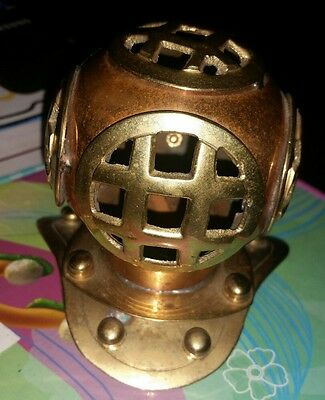 Vintage copper and brass nautical divers helmet sci fi