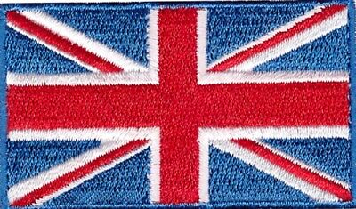 British UK Flag Small Iron On / Sew On Patch Badge 6 x 3.5cm AIRSOFT UNION JACK