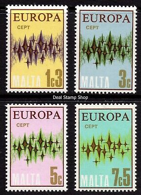 Malta 1972 Europa Complete Set SG 478 - 481 Unmounted Mint