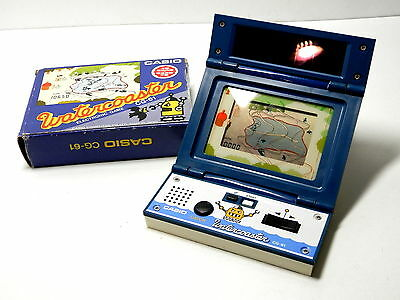 80s Retro CASIO LCD Handheld Game Water Coaster CG-61 Boxed Made in Japan 1983