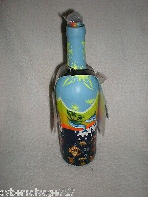 Incense Burner Bottle Stick Decorated W Dolphins Aromatherapy - Nautical Decor