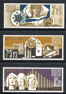 Malta 1973 Christmas Complete Set SG 507 - 509 Unmounted Mint