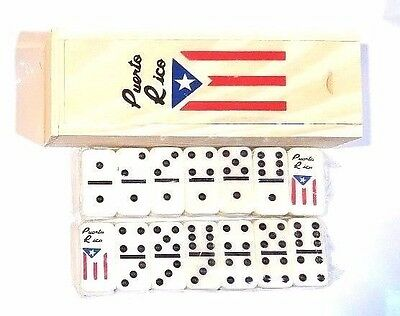 Puerto Rico Flag Double Six Dominos Dominoes Boricua Rican * TRAVEL SIZE *