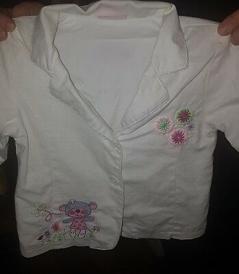 beautiful summer whitw cotton jacket age 12-18 months