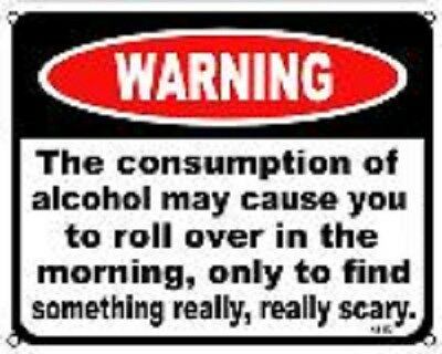 """Consumption of Alcohol   8""""x10"""" Metal Novelty Silly Signs"""