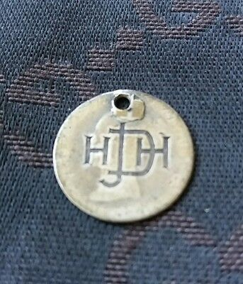 Victorian Solid Silver Fourpence Coin Holed Engraved Love Token Charm