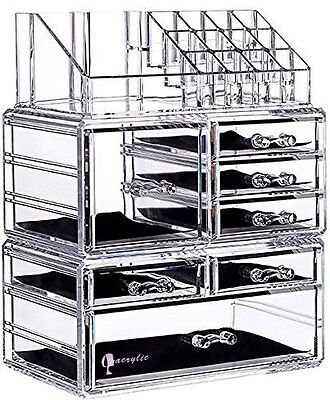 Large Clear Acrylic Makeup Organizer
