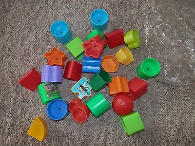 Fisher-Price extra Baby's First Colorful Blocks Learning Skills Play Toys 26 pc