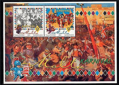 Malta 2001 Carnival Miniature Sheet Complete Set SG MS1200 Unmounted Mint