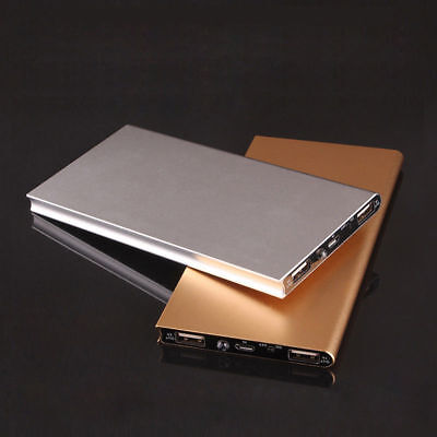 Ultra thin Slim Power Bank dual USB 20000 mah battery pack mobile phone charger