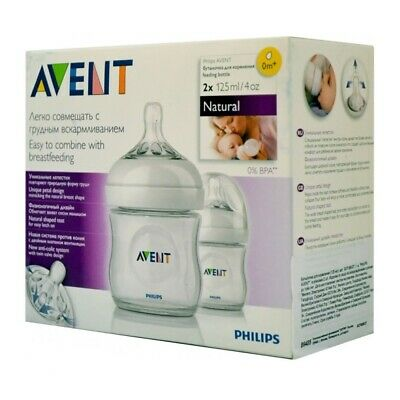 Philips AVENT Natural Feeding Bottle 125ml/4oz Twin - SCF690/27