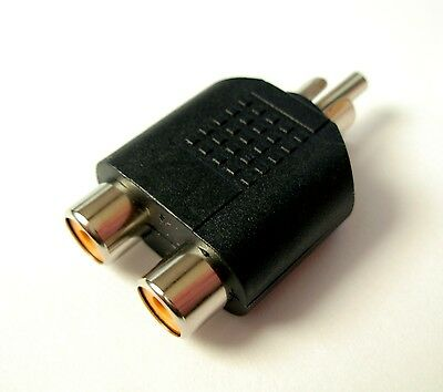 Adaptateur RCA male vers 2x RCA femelle / Adapter male RCA to 2x female RCA