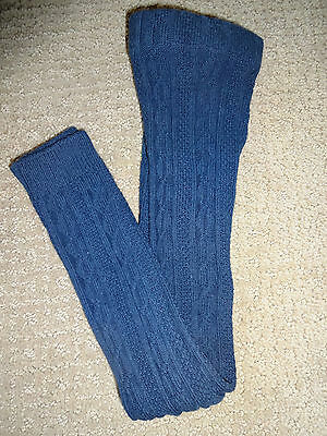 New Mini Boden Girls Blue/Navy Cable Footless Tights  3-4 y