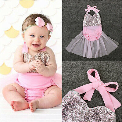 Summer Newborn Baby Girl Bodysuit Romper Jumpsuit Outfit Clothes 12-18Month