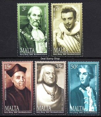 Malta 2002 Personalities Complete Set SG 1279 - 1283 Unmounted Mint