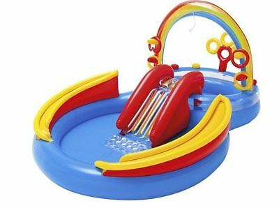 Kids Inflatable Swimming Pool Baby Outdoor Water Slide Play Center Summer Fun