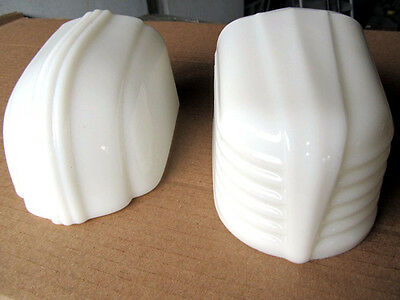 Set/2-Vintage Art Deco Bathroom Light Fixture/Sconce-Milk Glass Shade