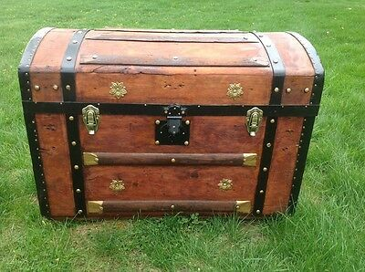 Trunks-n-Treasures BEAUTIFUL  Refinished Antique Dome  Trunk