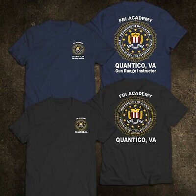 NEW FBI Academy Quantico VA Police United States Department Of Justice T-Shirt
