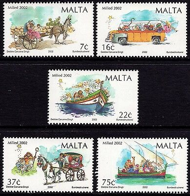 Malta 2002 Christmas Complete Set SG1284 - 1288 Unmounted Mint