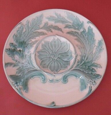 Rare Antique French Majolica Plate - Artichoke