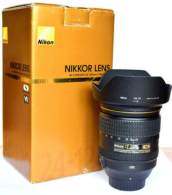 Nikon AF-S Nikkor 24-120mm f4G IF ED N VRII Lens. MINT-NEW Cond. 1 Yr Warranty