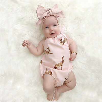 Baby Girls Floral Clothes Long Sleeve Bodysuit Romper Jumpsuit Outfit Sunsuit