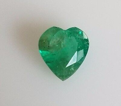 1.46CT NATURAL COLOMBIAN EMERALD LOOSE STONE HEART SHAPE gemstone