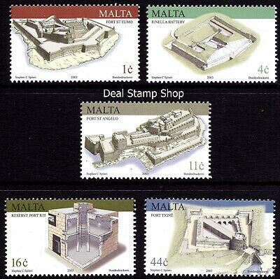 Malta 2003 Maltese Military Architecture Complete Set SG1294 -8 Unmounted Mint