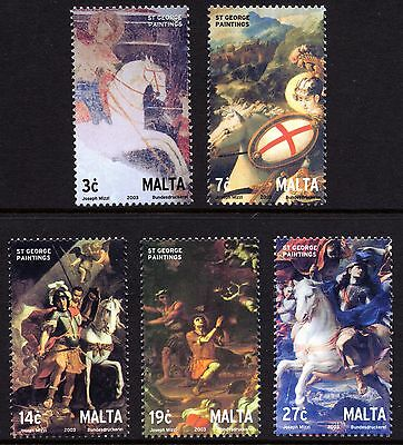 Malta 2003 Paintings of St. George Complete Set SG1299 - 1303 Unmounted Mint