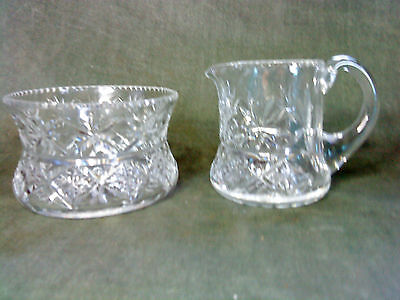 Web Corbett -  24% Lead Crystal Cream / Milk Jug pitcher  and sugar bowl