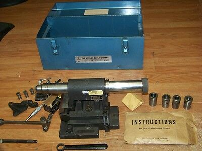 Weldon Air Bearing End Mill Sharpening Fixture With Attachments Case Etc.