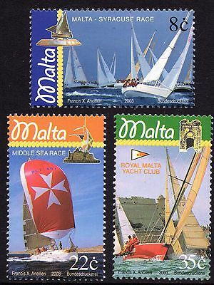 Malta 2003 Yachting Complete Set SG1332 - 1334 Unmounted Mint